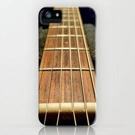 6 strings at the nut iPhone Case