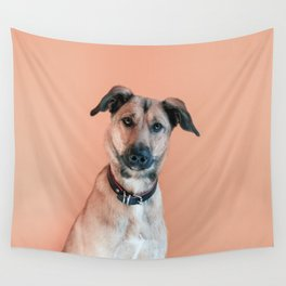Dog Portrait Wall Tapestry