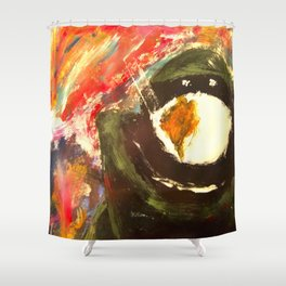 Bomb Suit Visions Shower Curtain