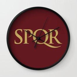 SPQR Wall Clock