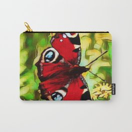 Peacock Butterfly Dream | Aglais io - Oil Painting Carry-All Pouch