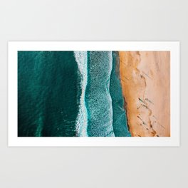 2 Sides of the Sand Art Print