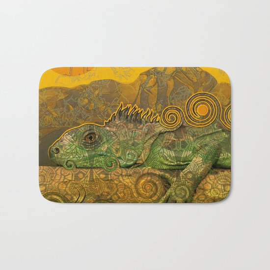 Just Chilling and Dreaming...(Lizard) Bath Mat