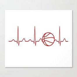BASKETBALL HEARTBEAT Canvas Print