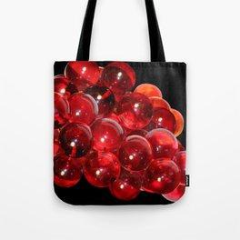 Red Retro Grapes by Lika Ramati Tote Bag