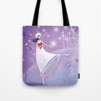 russian Tote Bags featuring russian winters by mila marquis