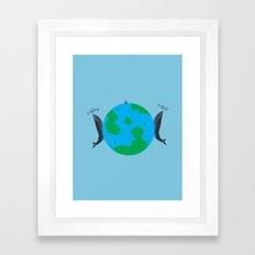 Blue Whales Love Song Framed Art Print