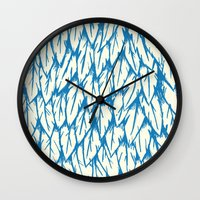 fringe Wall Clocks featuring Feathered Fringe by Joe Van Wetering