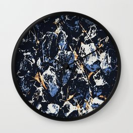 Blue stones Wall Clock