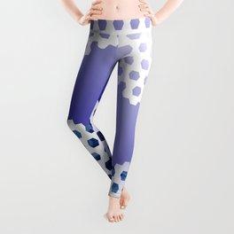 Soccer Pattern 8 - Blue/White Leggings