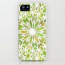 Mandala Desert Cactus Green iPhone Case