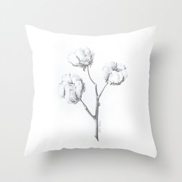 Cotton (expanded) Throw Pillow