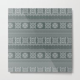 Knitted christmas pattern Metal Print
