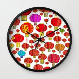 88 LANTERNS Wall Clock