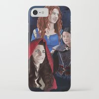 ouat iPhone & iPod Cases featuring Warrior Women of OUAT by Christine Ring