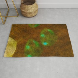 stained fantasy jellyfish Rug