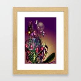 Sunset Butterflies Framed Art Print