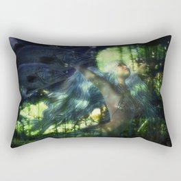 Swimming with Fish Rectangular Pillow