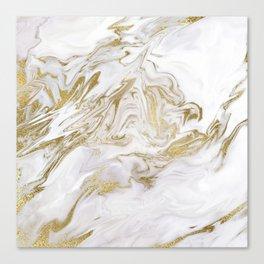 Liquid gold marble II Canvas Print