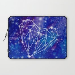 Watercolor Galaxy Heart Laptop Sleeve