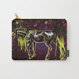 Yellow Love Horse Carry-All Pouch