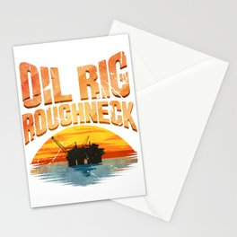Oil Rig Worker Roughneck Stationery Cards