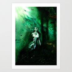 Eerie Mermaid Art Print