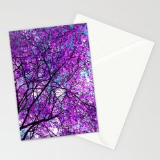 purple tree III Stationery Cards