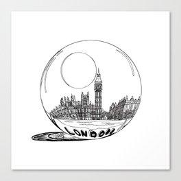 London city in a glass ball . Home Decor, Art prints Canvas Print