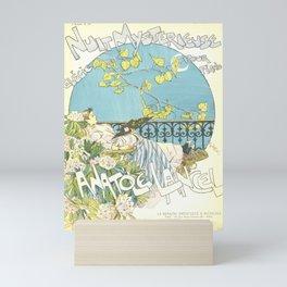 """Théophile Steinlen """"Sheet music: Nuit mystérieuse by Anatole Lancel"""" Mini Art Print"""