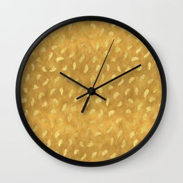 Pretty Gold Glam Abstract Wall Clock