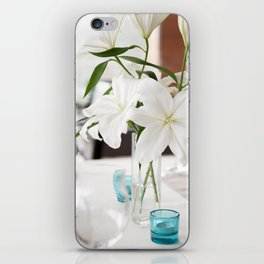 White Lily flowers bridal decoration iPhone Skin