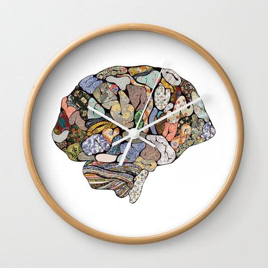 my brain looks different Wall Clock