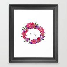 Blerg Framed Art Print