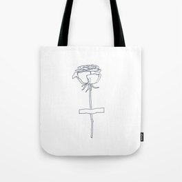 Pasted Rose Tote Bag