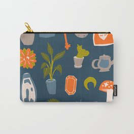 Minimalist Teenage Bedroom Blue Flash Sheet Carry-All Pouch