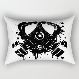 Gas mask graffiti Rectangular Pillow