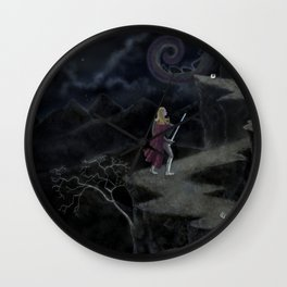 A Perilous Quest (and the Sword is Drawn) Wall Clock