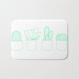Succulents (Minty Palette) Bath Mat