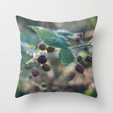blackberries Throw Pillow