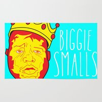 biggie smalls Area & Throw Rugs featuring Biggie Smalls by Hussein Ibrahim