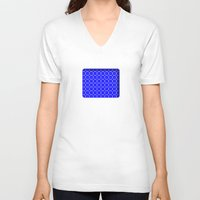 blueprint V-neck T-shirts featuring Interlocking Cogs Pattern Blueprint by StuC42