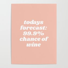 chance of wine Poster
