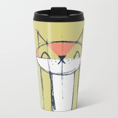 Cubist Cat Study #4 by Friztin Metal Travel Mug
