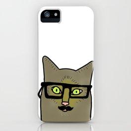 Professor Mustache Cat iPhone Case