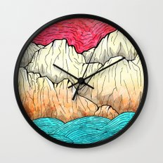 As the sea hits the mountains Wall Clock
