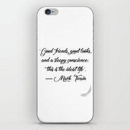 Quote 1 iPhone Skin