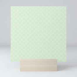 Vintage chic abstract green floral mandala gradient Mini Art Print