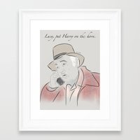 martell Framed Art Prints featuring Pete Martell by Isn't It Too Dreamy | NC Illustration