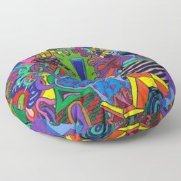 hop skip Floor Pillow